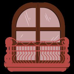 Castillo de princesa balcón