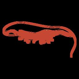 Silueta de vista lateral de camarones