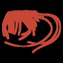 Silueta de vector de camarones