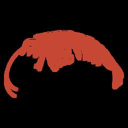 Vector silueta camarones