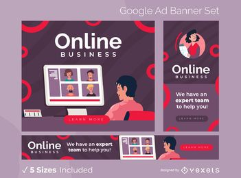 Paquete de banners de anuncios de Google para empresas en línea