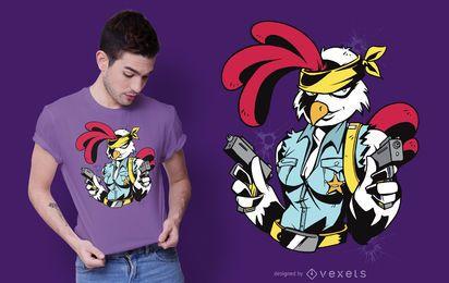 Diseño de camiseta de polluelo armado