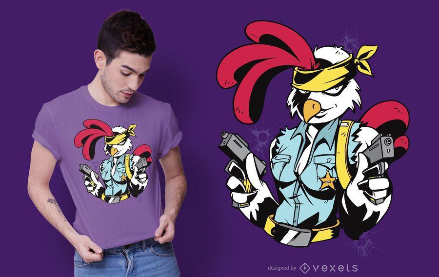 Design armado do t-shirt do pintainho