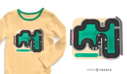 Design de t-shirt de mármore da pista de corrida