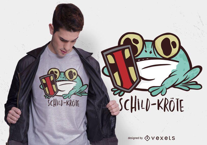 Diseño de camiseta alemana Shield Toad
