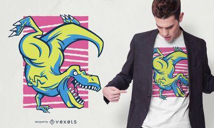 T-rex Handstand T-shirt Design