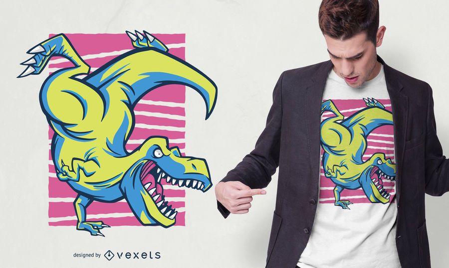 Diseño de camiseta T-rex Handstand