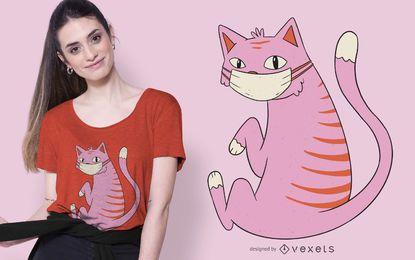 Gesichtsmaske Katze T-Shirt Design