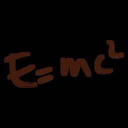 E = doodle de ecuación mc2