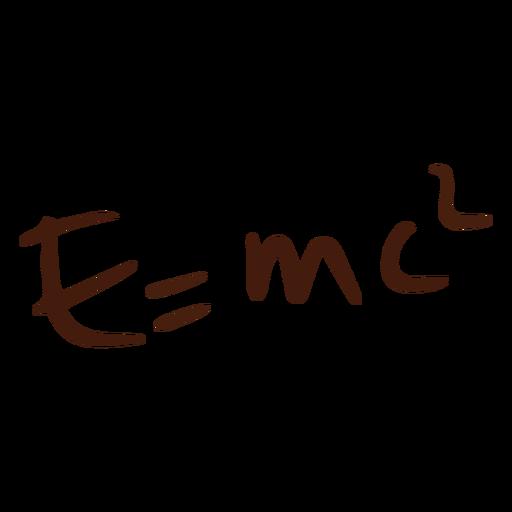 E = doodle de ecuación mc2 Transparent PNG