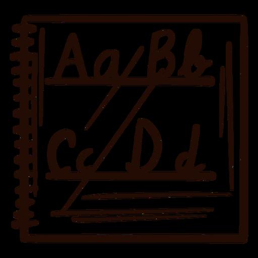 Alphabet notebook hand drawn