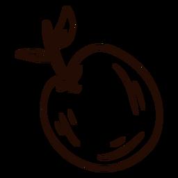 Dibujado a mano fruta manzana