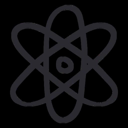 Golpe de ciencia del átomo