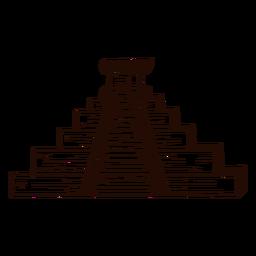Templo asteca desenhado à mão