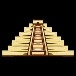 Ilustración del templo azteca