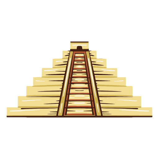 Aztec temple illustration