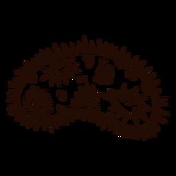 Mão de bactéria desenhada