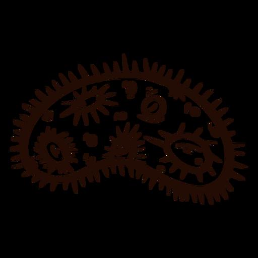 Bactéria desenhada à mão