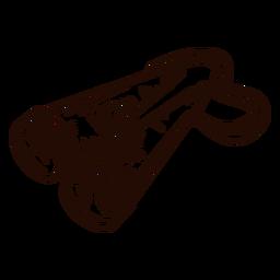 Mão de binóculos desenhada