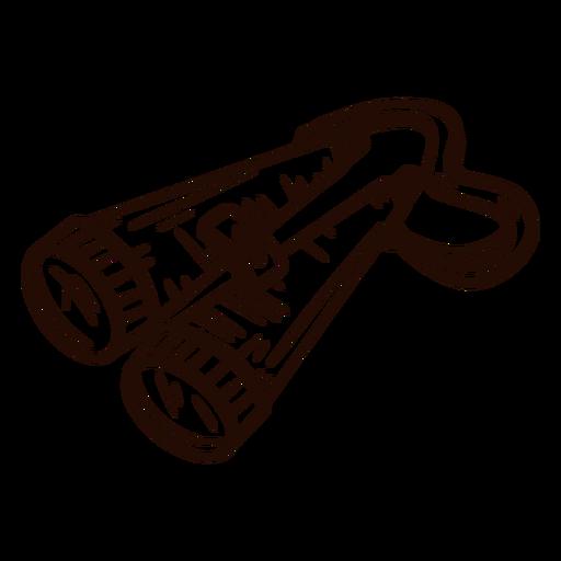 Binoculars hand drawn