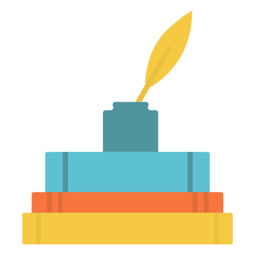 Books ink flat icon