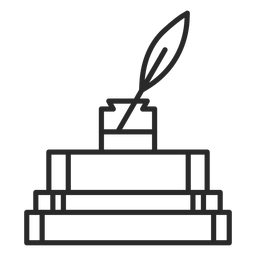 Ícone de traço de tinta de livros