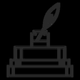 Icono de trazo de tinta de libros