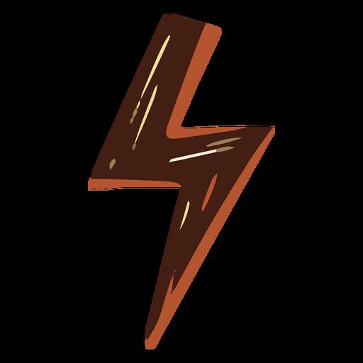 Ilustración de rayo marrón