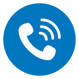 Call blue icon