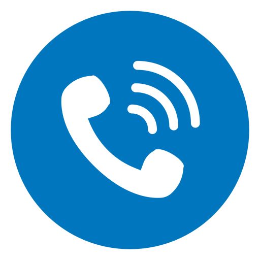 Call blue icon
