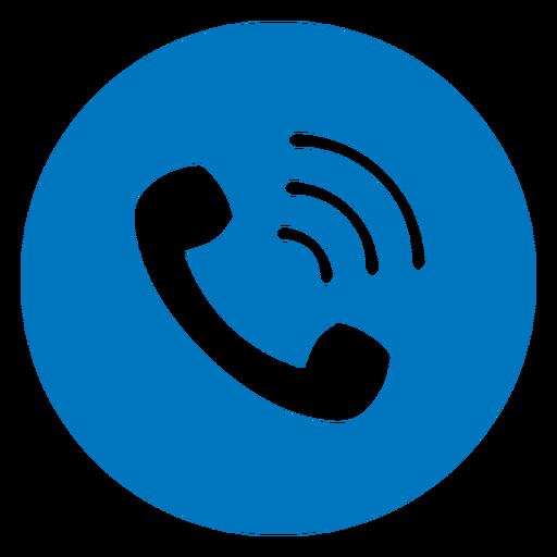 Icono de llamada azul