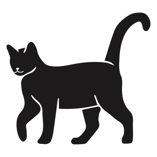 Calm cat walking silhouette Transparent PNG