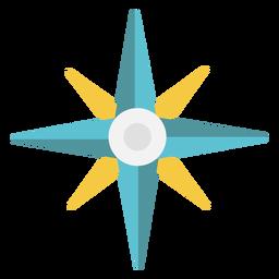 Icono plano de puntos cardinales