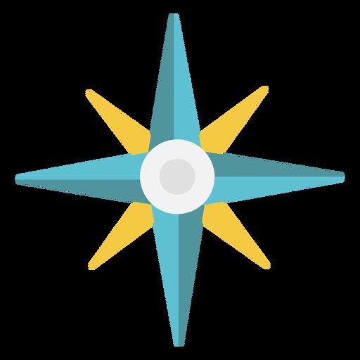 Icono plano de puntos cardinales Transparent PNG