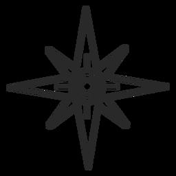 Icono de trazo de puntos cardinales