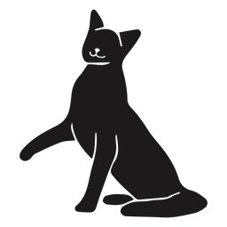 Cat leg up animal silhouette