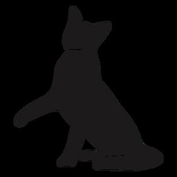 Pierna de gato silueta animal
