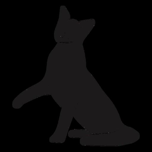 Pierna de gato silueta animal Transparent PNG