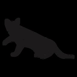 Katze, die seitentierschattenbild schaut