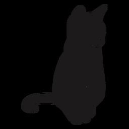 Gato sentado silueta animal