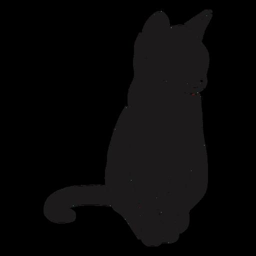 Cat sitting animal silhouette