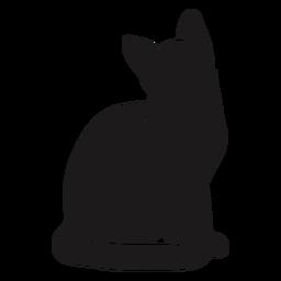 Gato sentado silhueta gato