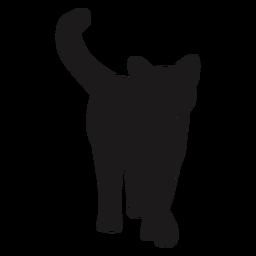 Gato andando silhueta animal