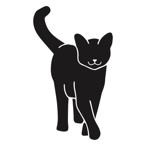 Gato caminando silueta animal Transparent PNG