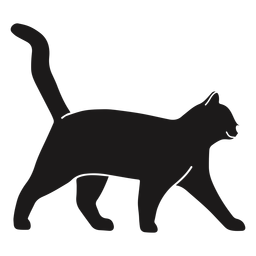 Cat walking silhouette cat
