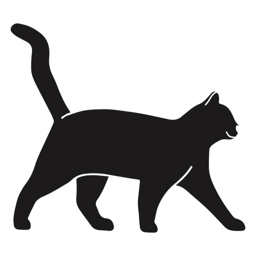 Gato caminando silueta gato