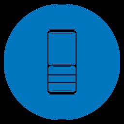 Blaues Symbol des Handys
