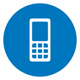 Cellphone blue icon