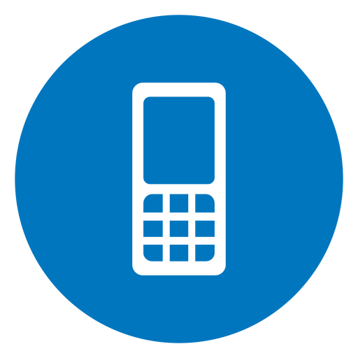Cellphone blue icon Transparent PNG