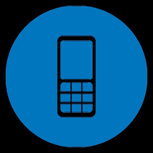 Icono de teléfono celular azul